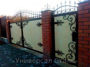 Кованые ворота V-191 - фото 1