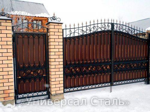 Кованые ворота V-192 — фото