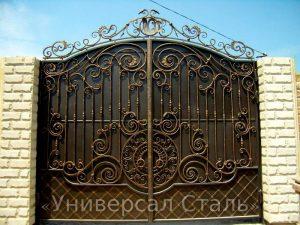 Кованые ворота V-193 - фото 1