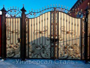 Кованые ворота V-197 - фото 1