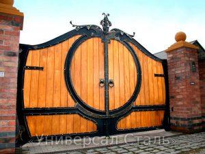Кованые ворота V-198 - фото 1
