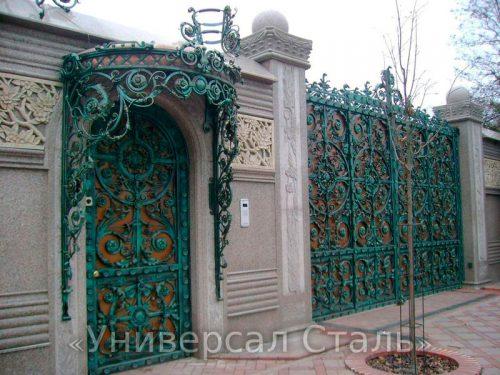 Кованые ворота V-200 — фото