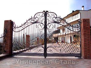 Кованые ворота V-204