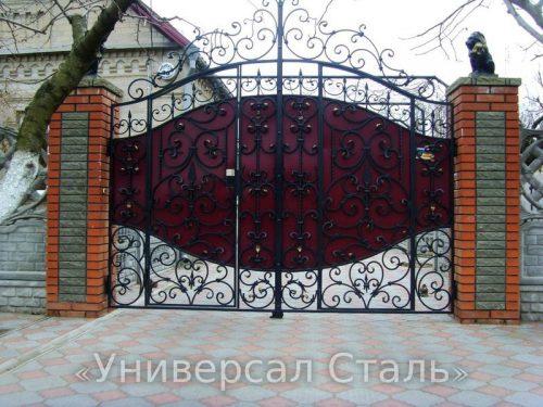 Кованые ворота V-205 — фото