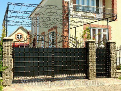 Кованые ворота V-207 — фото