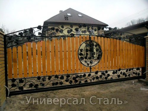 Кованые ворота V-208 — фото