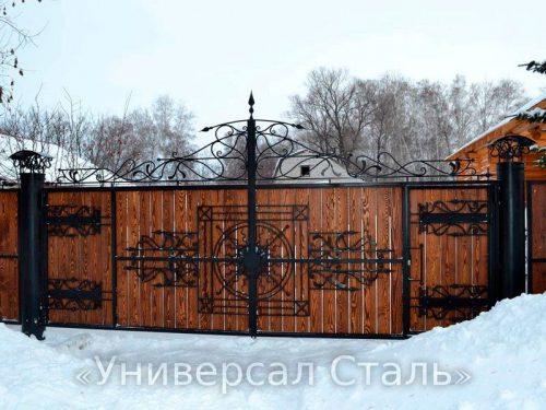 Кованые ворота V-209 — фото