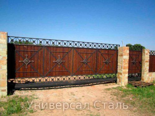 Кованые ворота V-210 — фото