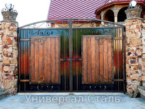 Кованые ворота V-211 — фото