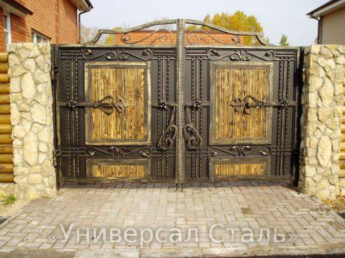 Кованые ворота V-212 — фото