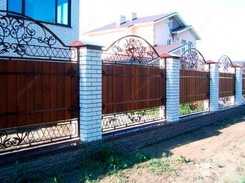 Кованый забор Z-010 — фото