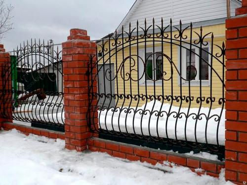 Кованый забор Z-013 — фото