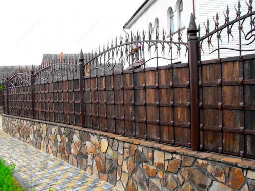 Кованый забор Z-023 — фото