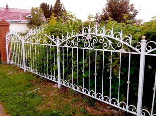 Кованый забор Z-029 — фото