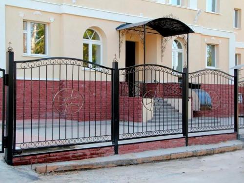Кованый забор Z-035 — фото