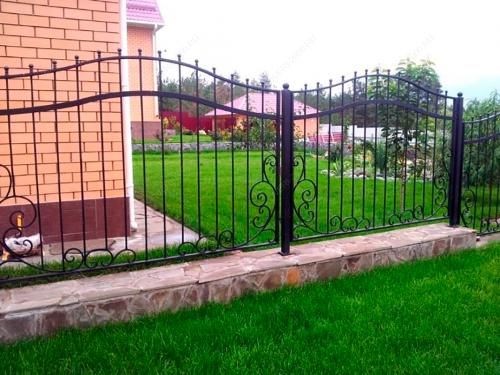 Кованый забор Z-036 — фото