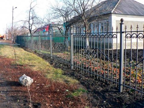 Кованый забор Z-040 — фото