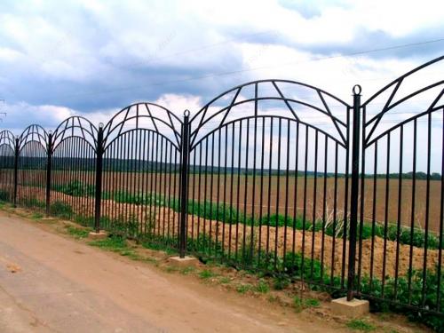 Кованый забор Z-041 — фото