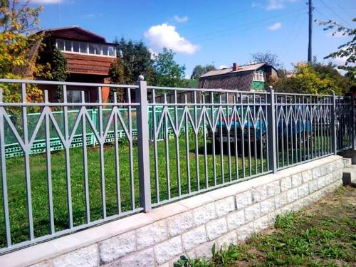Кованый забор Z-045 — фото