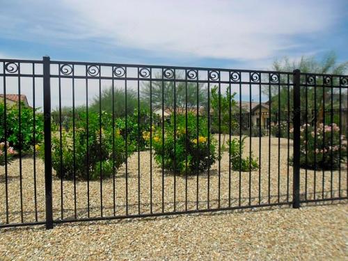 Кованый забор Z-047 — фото
