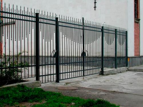 Кованый забор Z-048 — фото