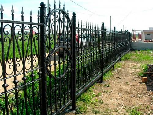 Кованый забор Z-051 — фото