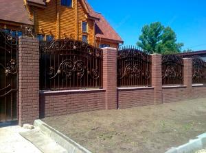 Кованый забор Z-006 - фото 1