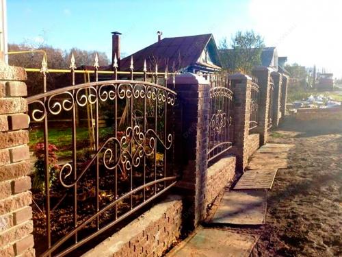 Кованый забор Z-062 — фото