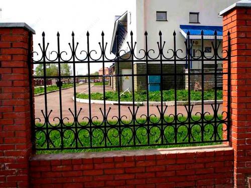 Кованый забор Z-085 — фото