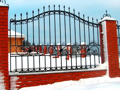 Кованый забор Z-090 — фото
