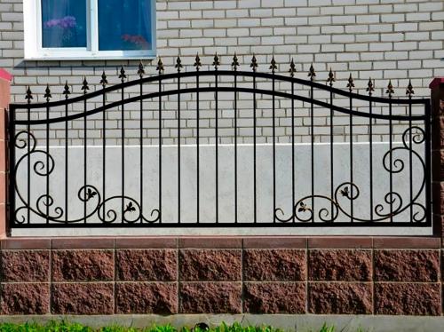 Кованый забор Z-093 — фото