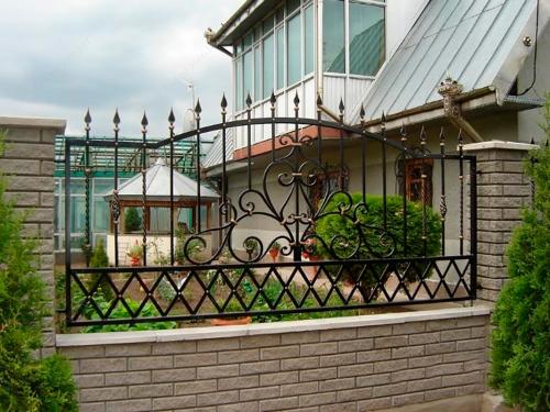 Кованый забор Z-094 — фото