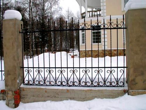 Кованый забор Z-095 — фото