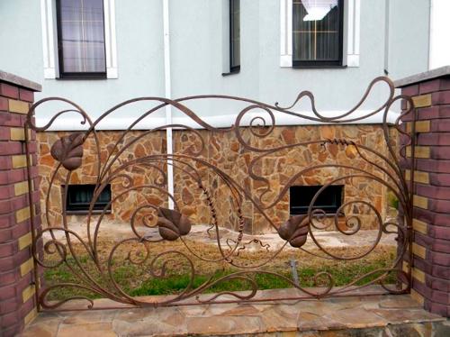 Кованый забор Z-098 — фото