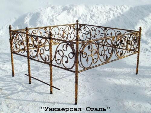Кованая ограда №1 — фото