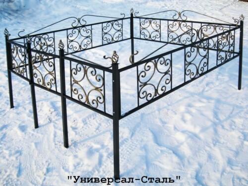 Кованая ограда №10 — фото