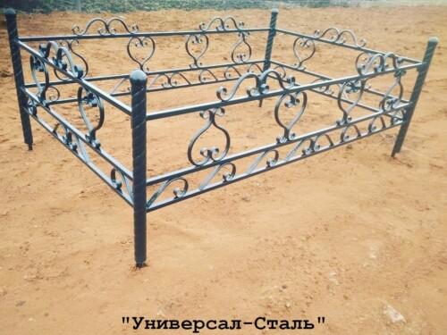 Кованая ограда №100 — фото