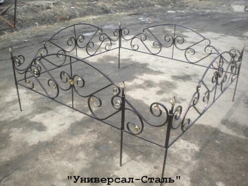 Кованая ограда №101 — фото