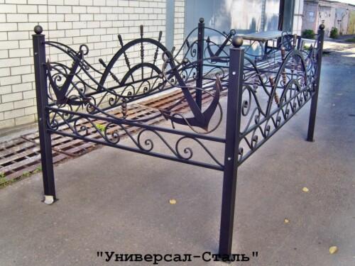 Кованая ограда №103 — фото