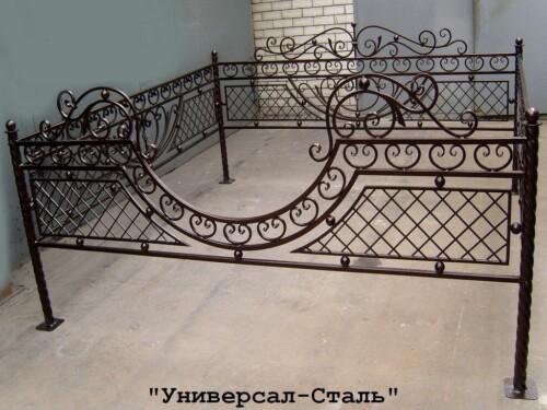 Кованая ограда №104 — фото