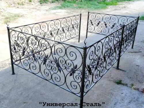 Кованая ограда №105 — фото