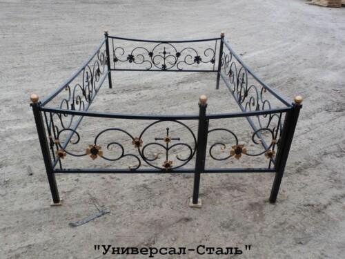 Кованая ограда №107 — фото