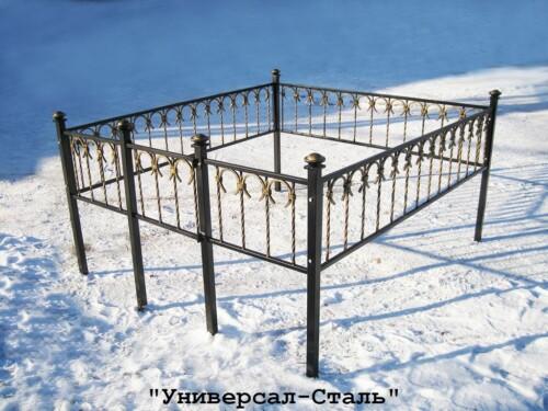 Кованая ограда №11 — фото