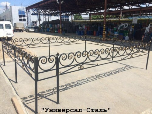 Кованая ограда №112 — фото