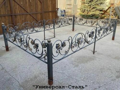 Кованая ограда №113 — фото