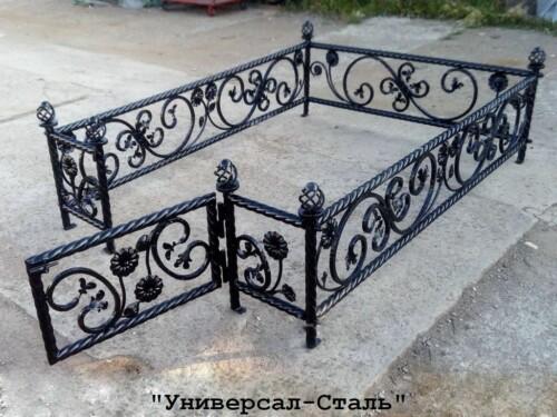 Кованая ограда №115 — фото