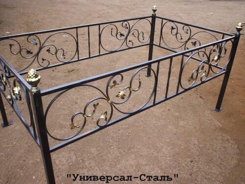Кованая ограда №117 — фото