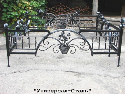 Кованая ограда №120 — фото