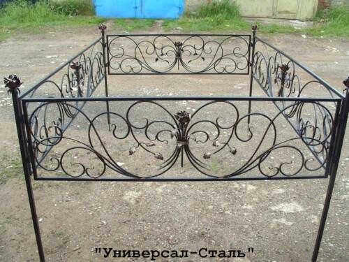 Кованая ограда №121 — фото