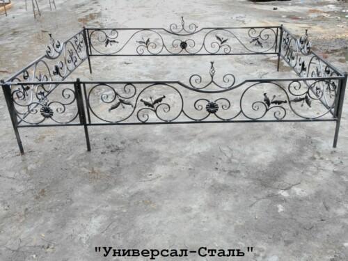 Кованая ограда №124 — фото